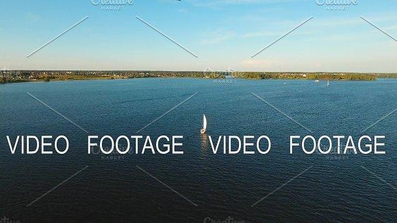 Sailing Boat On The Lake