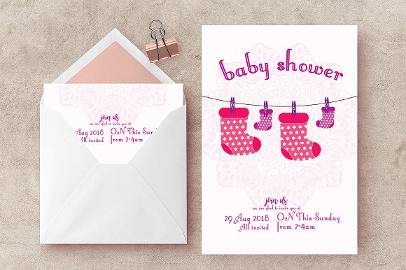 Baby Shower Announcement Flyer