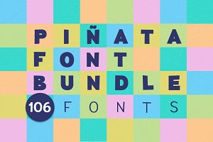 Piñata Font Bundle | 106 fonts