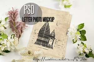 Romantic letter photo mockup 3