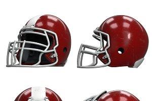 Set of Old American Football Helmets