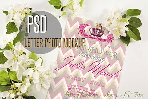 Romantic letter mockup photo 6