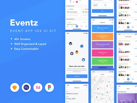 Eventz IOS UI Kit