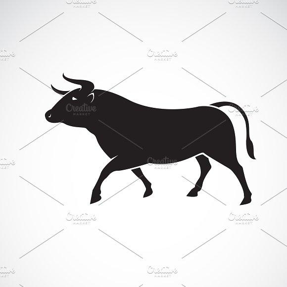 Vector Of Bull Design Wild Animals