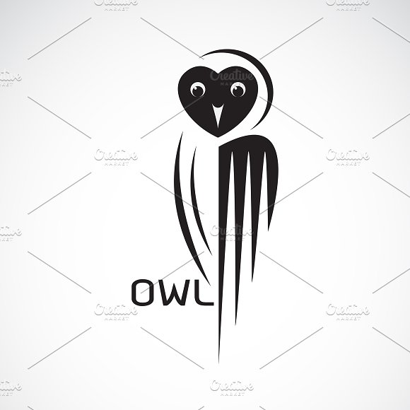Vector Of An Owl Design Bird