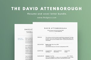The David Attenborough Resume Set