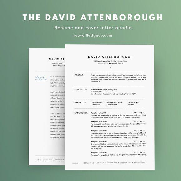 The David Attenborough Resume Set