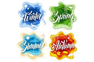 Four Seasons Label Set