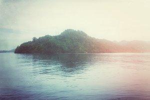 Island with Vintage Light Leaks