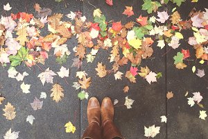 Boots & Fall Leaves