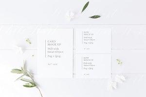 Botanical wedding suite mock up
