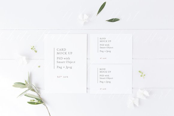 Botanical Wedding Suite Mock Up