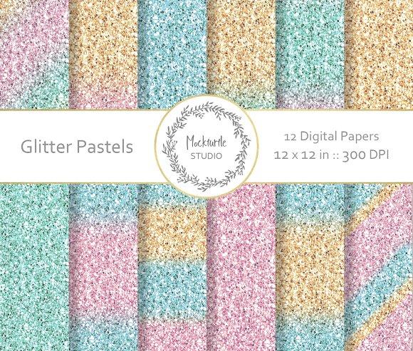 Pastel Glitter Digital Paper