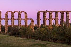 Roman aqueduct of Merida, Spain