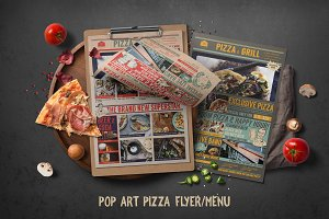 Pop Art Pizza Flyer Menu