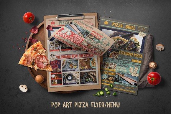 Pop Art Pizza Flyer Menu