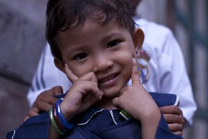Young Girl Smiling in Indonesia