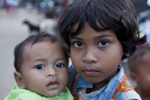 Young Siblings in Cambodia