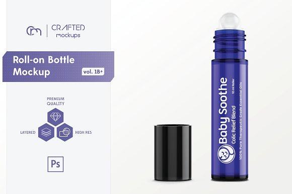 Roll-on Bottle Mockup V 1B Plus
