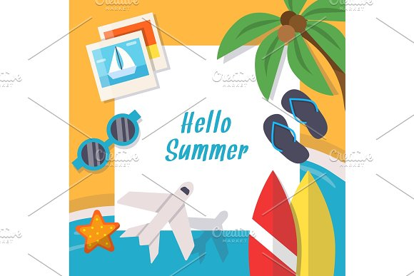 Background Pictures Of Summer Theme Vector Illustration