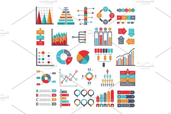 Various Business Symbols For For Infographic Projects