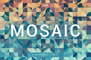 Mosaic | Abstract Gradient Bgs | V1