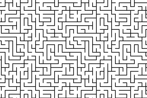 Black And White Simple Maze Pattern