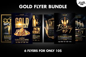 GOLD Flyer Template Bundle