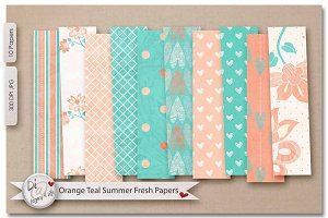 Orange Teal Summer Fresh