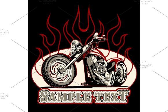 Vector Cartoon Motorbike