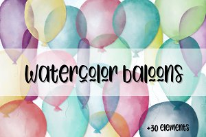 Watercolor Baloons