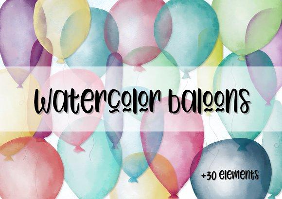 Watercolor Baloons