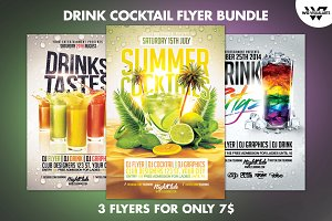 DRINK COCKTAIL Flyer Bundle