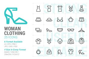 Clothing Woman Mini Icon