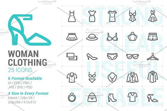 Clothing Woman Mini Icon