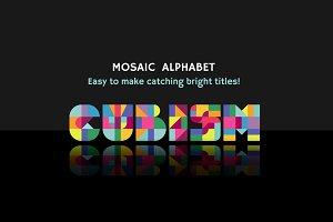 Cubism Mosaic Alphabet