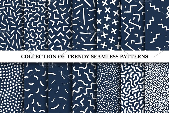 Trendy Seamless Memphis Patterns
