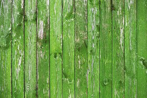Old green fence