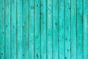 Old blue fence