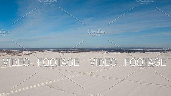 Winter Snow Field Winter Landscape