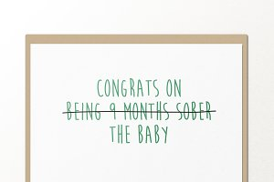 congrats on the baby card