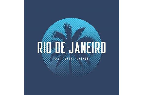 Rio De Janeiro Atlantic Avenue T-shirt And Apparel Design With P