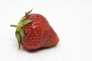 Ripe Strawberry Closeup