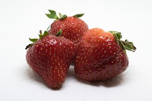 View of Three Strawberries