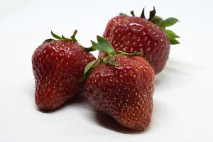 Close View of Fresh Strawberries