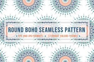 Round Boho Seamless Pattern
