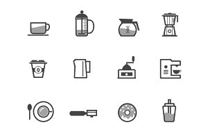 12 Coffee Icons and Symbols