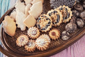 Tasty different cookies