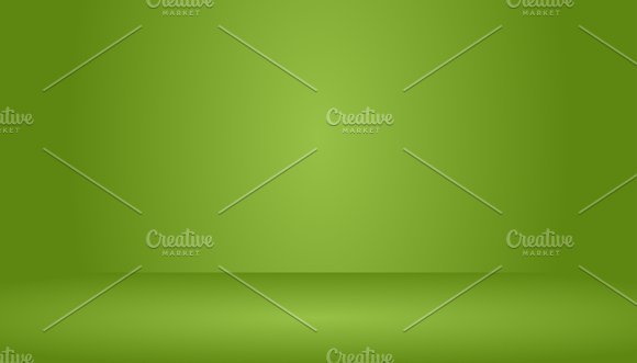 Empty Green Studio Room Background Template Mock Up For Display Of Product Business Backdrop