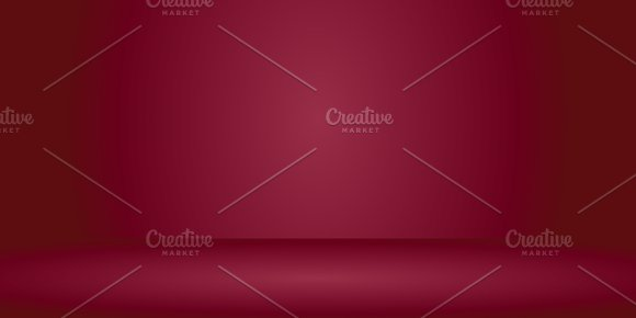 Empty Orange Red Color Studio Room Background Template Mock Up For Display Or Montage Of Product Business Backdrop
